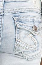 Silver J EAN S Shorts Suki Surplus Flap Denim Jean Light Mid Short 25 26 27 28 32 - $18.67+