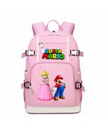 Super Mario Kid Backpack Schoolbag Bookbag Daypack Pink Large Bag C - $36.99