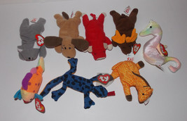 Ty Teenie Beanie Baby 8 Plush Lot Stuffed Animal McDonalds Fish Koala Giraffe - $11.99