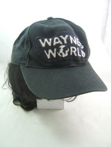 Vintage Wayne's World Hat Handmade Patch Costume Cap w/ Wig - $29.31