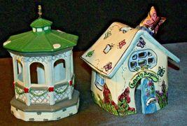 House Village (Candle Holders) AA20-2061 Vintage Pair image 4