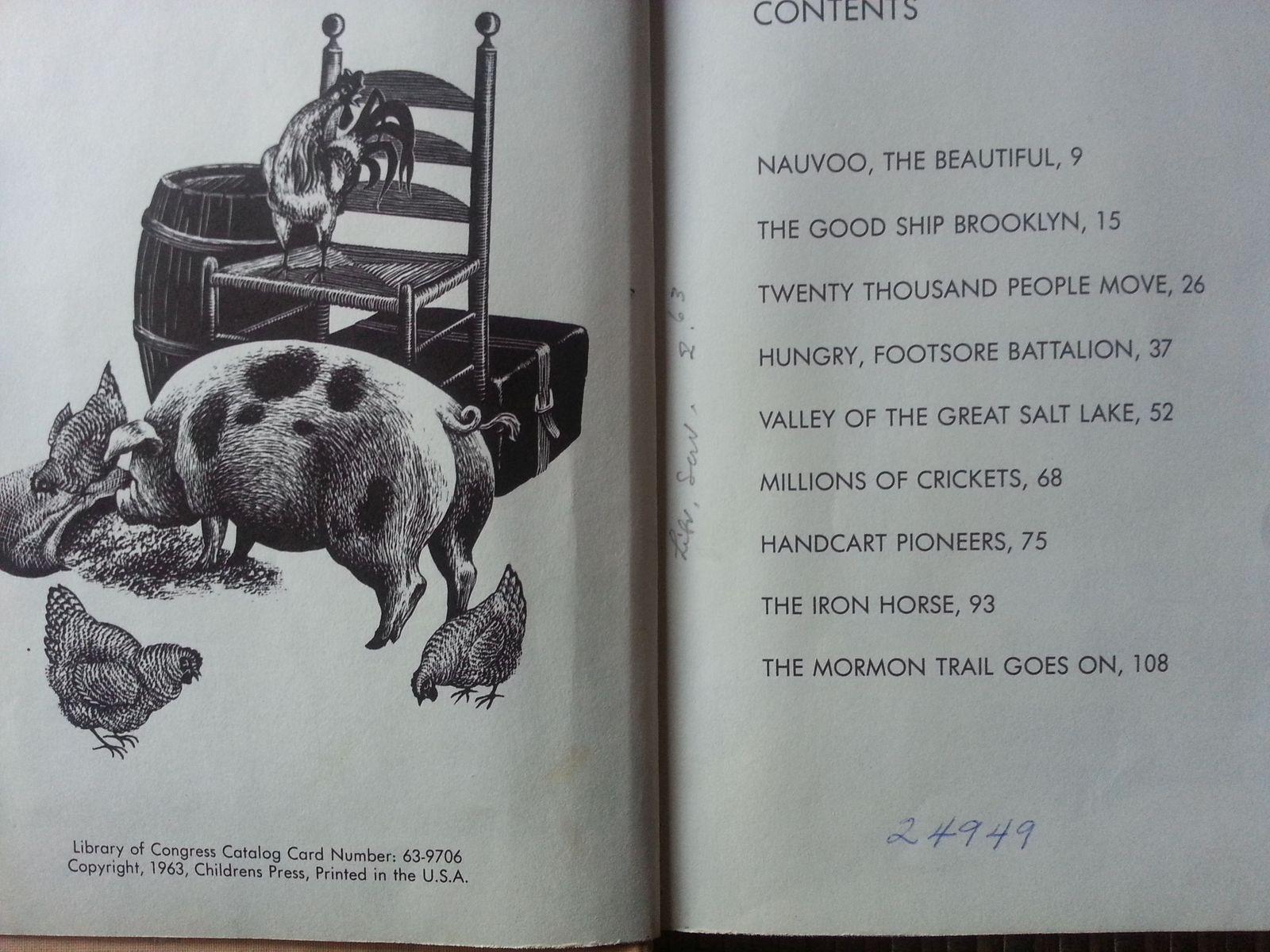 Over the Morman Trail by Helen Hinckley Jones 1963 HB