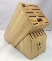 J. A. Henckels International Knife Block 16 Slot Light Wood Safe Storage - $39.46 CAD