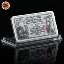 WR US 1875 $100 National Bank of North Carolina 1 Oz Silver Bullion Bar ... - $4.68