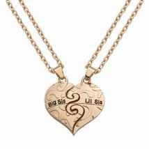 Big Sis Lil Sis Heart Break FF Cloud shape Chain Friendship Pendant Necklace - $14.39
