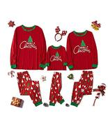 Family Matching Sleepwear Christmas Print Pajamas Nightwear Indoor Wear ... - $59.40