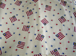 United States Flags Country Style Cream Cotton Fabric Quilt Craft Genera... - $318,45 MXN