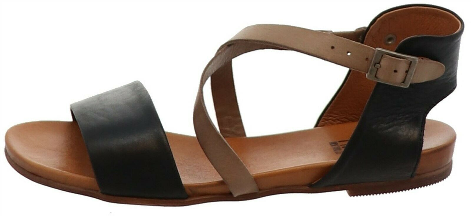 Primary image for Miz Mooz Leather Cross Strap Sandals Amanda Black EU41(US9.5-10) NEW A304340