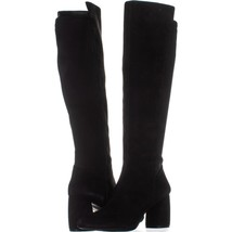 Nine West Kerianna Knee High Pull-On Boots 922, Black/Black Suede, 9 US - $39.35