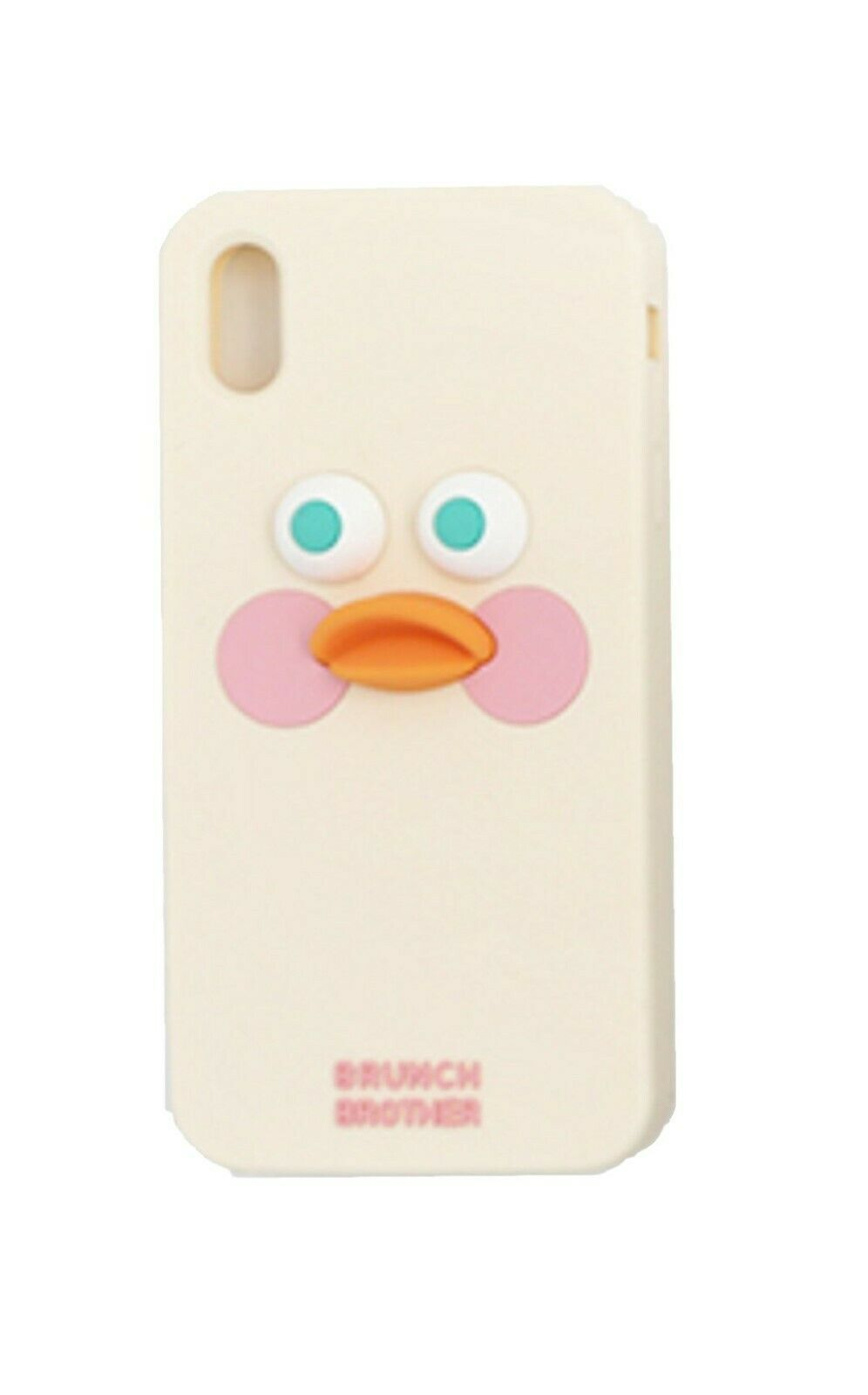 Brunch Brother iPhone Xs MAX Silicon Case Cover Protector (White Duck)