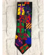 ADDICTION Christmas Gifts Mice Silk Necktie Holiday Tie Multicolor - $4.80
