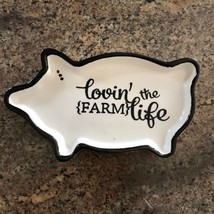 "Farmhouse Pig White Ceramic Spoonrest 8"" - $6.92"