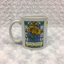 Avon Sunflowers Friendship Mother's Day Vintage Collectible Mug Cup w Quote - £8.20 GBP