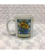 Avon Sunflowers Friendship Mother's Day Vintage Collectible Mug Cup w Quote - £8.01 GBP