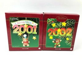 Lot of 2 Carlton Cards Heirloom Fun in 2001 & 2002 Christmas Ornaments - $9.90