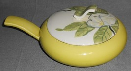 1940s Red Wing MAGNOLIA PATTERN Covered Casserole CHARTREUSE BASE #1 - $79.19