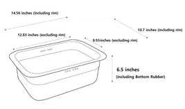 Incoc Stainless Steel Basin Bucket Dishpan Dish Washing Bowl Basket (Large) image 2