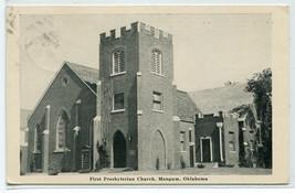 First Presbyterian Church Mangum Oklahoma 1948 postcard - $6.44