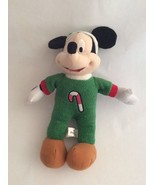 """DISNEY Toy Factory green MICKEY MOUSE W/ CANDY CANE PAJAMAS 13"""" Christma... - $7.69"""