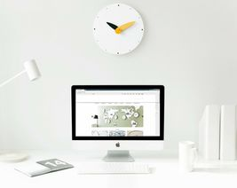 Moro Design Spread the Wings Wall Clock non Ticking Silent Modern Clock (Yellow) image 4