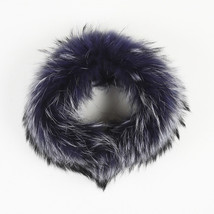 Versace NWOT Blue Murmansky Fur Collar Scarf - $705.00