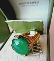 Judith Ripka NWT 14K Gold-Clad/925 GREEN GODDESS DMQ Ring S~11 JR Ring B... - $169.95