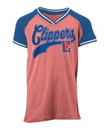 NBA Los Angeles Clippers Girls Youth Tri Blend Jersey V Neck, Red, XL (1... - $16.99