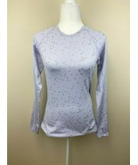 Under Armour Womens S Purple Silver Cozy Shimmer Coldgear Fitted Shirt - $14.99