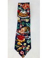 Tabasco 100% Silk Holiday Christmas Table Meal Dinner Feast Neck Tie - $6.98