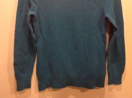 St John's Bay Sea-Toned Teal Turtleneck Sweater w Neck Buttons Sz Medium image 3