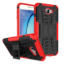 Hybrid Armor Kickstand Protective Case for Samsung Galaxy On5 (2016) - Red  - $4.99