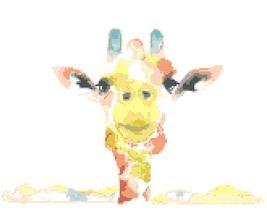 Counted Cross Stitch pattern watercolor giraffe chart 165 * 109 stitches... - $3.99