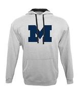 NCAA Michigan Wolverines Men's Hood 50/50 Fleece Top, Gray, Large - $27.95