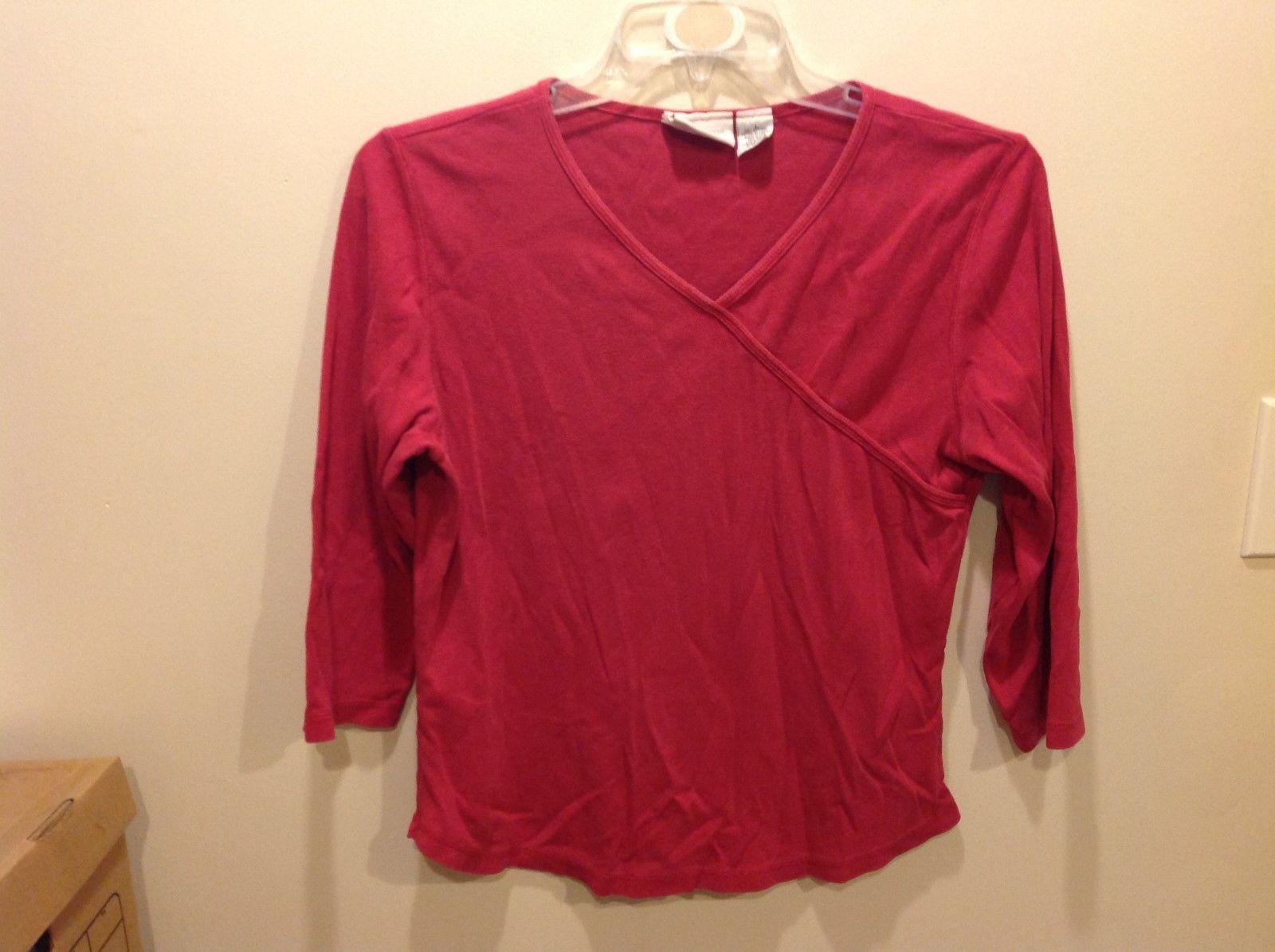Liz Claiborne Magenta Colored 3/4 Sleeve Top Sz LG