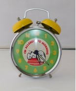 Vintage Peanuts Alarm CLOCK Snoopy I'm Allergic To Morning  - $38.65