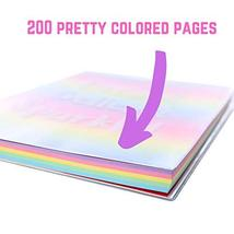 GirlZone: Glitter Rainbow Notebook and Pom Pom Pen Gift Set for Girls image 4
