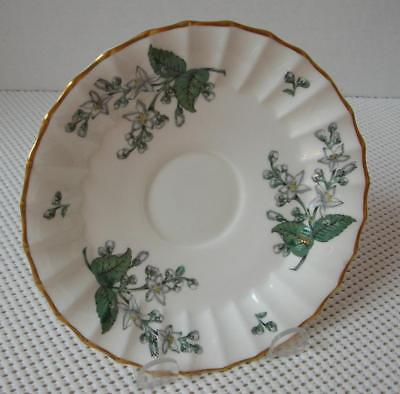 """VALENCIA Royal Worcester """"REPLACEMENT SAUCER"""" China England Green Leaf RW VAL - $6.78"""