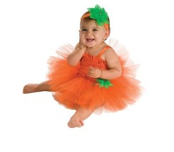 Baby Pumpkin Halloween Costume Tutu Dress 0-6 months 6-12 months - $33.99