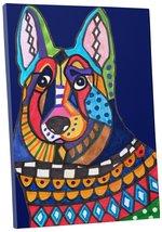 "Pingo World 0414Q5WQUVA ""Heather Galler German Shepherd Dog"" Gallery Wrapped Can - $43.51"