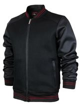 Men's Lightweight Multi Pocket Letterman Varsity Mesh Track Bomber Jacket image 4