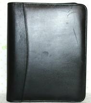 "KIRKLAND Signature Leather Binder 7 1.5"" Ring Zip Planner 10.5x8.5X2 GRE... - $18.04"