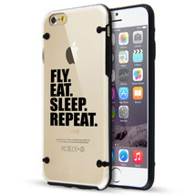 For iPhone SE 5 5s 6 6s 7 Plus Clear TPU Hard Case Cover Fly Eat Sleep R... - $14.99