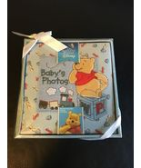 THE WORLD OF DISNEY WINNIE THE POOH EMBROIDERED BABY'S FIRST PHOTO ALBUM... - $33.81