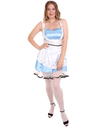 Adult Women's Sexy French Maid Uniform Costume | Medium Blue Cosplay Cos... - £29.57 GBP