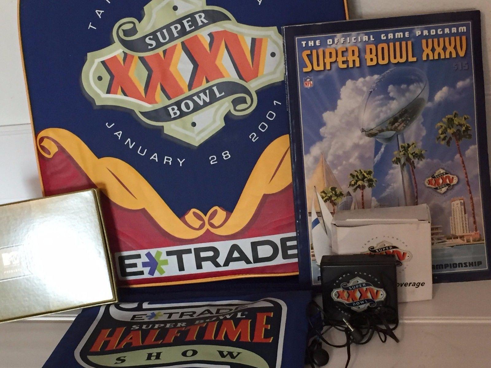 Superbowl xxxv 2001 Seat Lot Souvenir Program Football  image 2