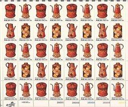 US Stamp - 1979 Pennsylvania Toleware - 40 Stamp Sheet - Scott #1775-8 b... - $10.99
