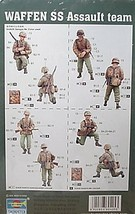Trumpeter 1/35 kit 00405  WW2 German Waffen Assault Team Figures image 2