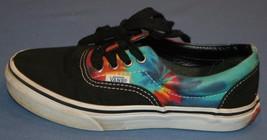 Kids Youth Vans Shoes Sz 1 Black Canvas Tie Die Skateboard Skate Unisex - $26.72