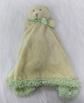 Blankets & Beyond Bear Baby Lovey & Security Yellow Green Fleece Boy Gir... - $20.98