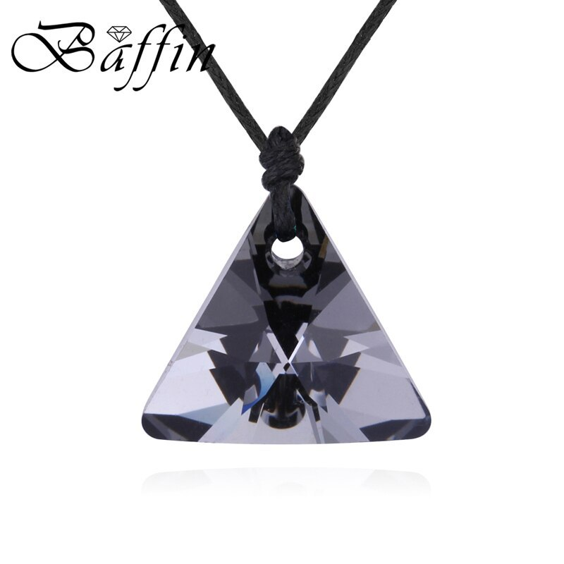 BAFFIN Genuine Made With Swarovski Elements Crystal Triangle Pendant Necklace Wi